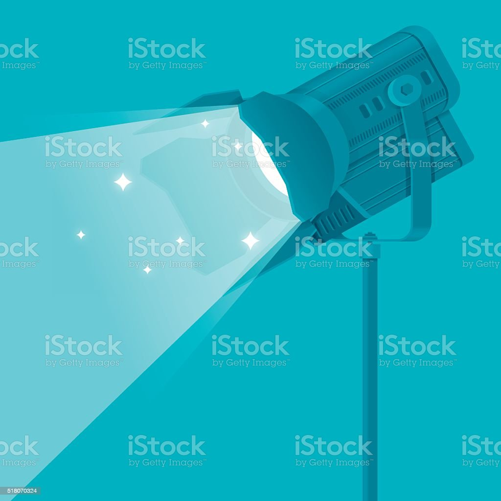 Spotlight Stage Light vector art illustration
