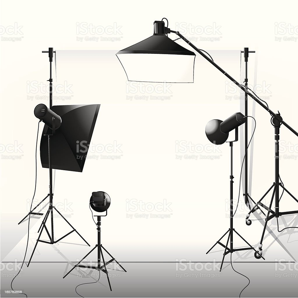 Spotlight & Studio vector art illustration