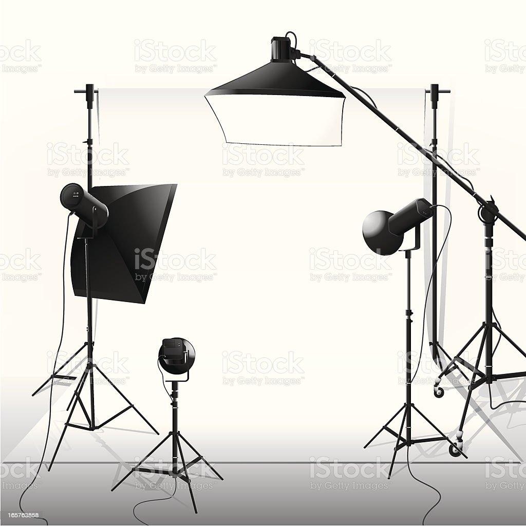 Spotlight & Studio vector art illustration