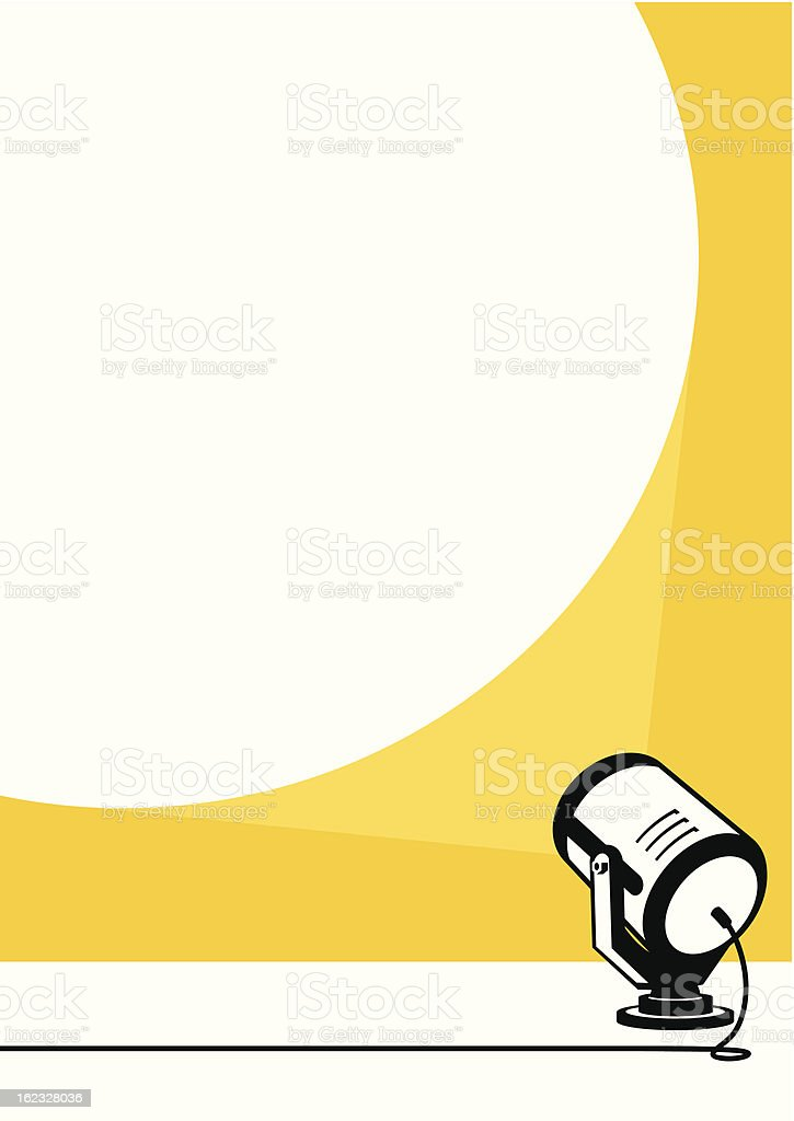 Spotlight vector art illustration