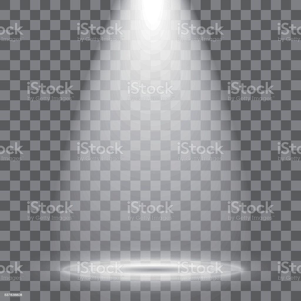 Spotlight vector art illustration