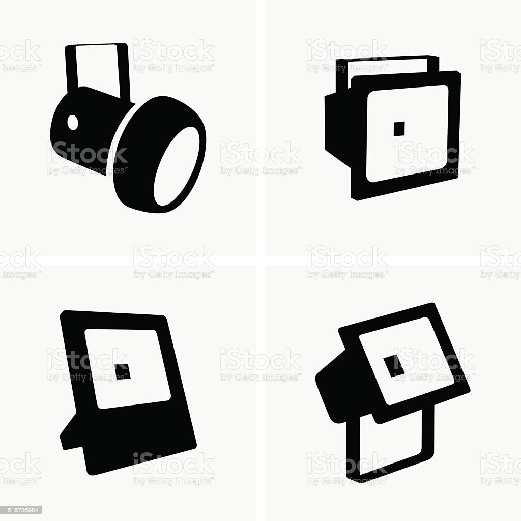 Spotlights vector art illustration