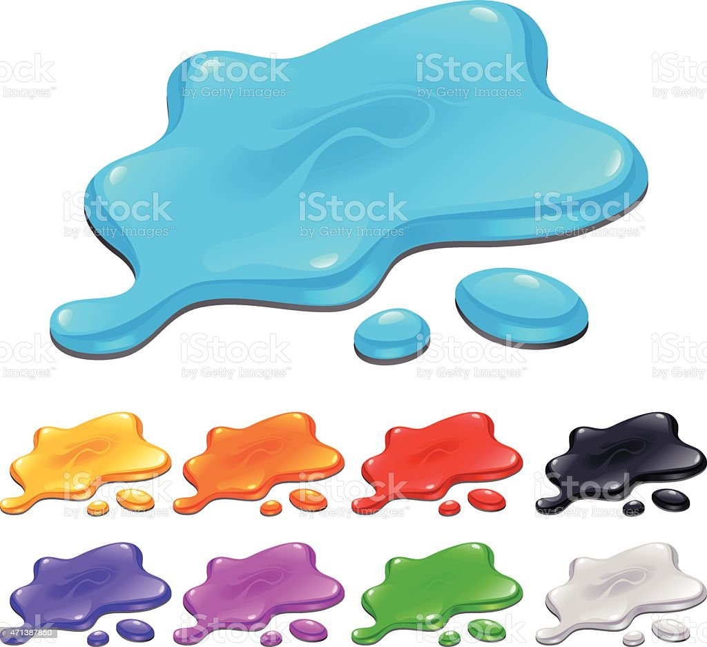 Spots in different colors vector art illustration