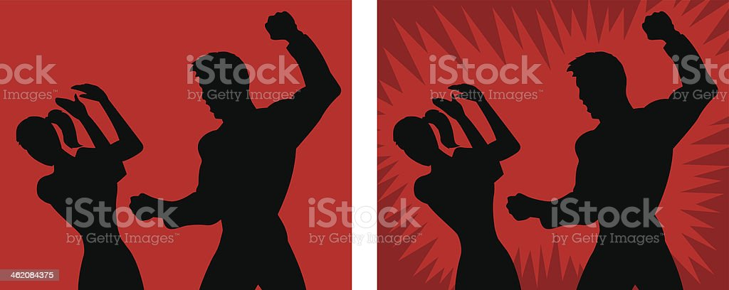 Spousal abuse icon vector art illustration