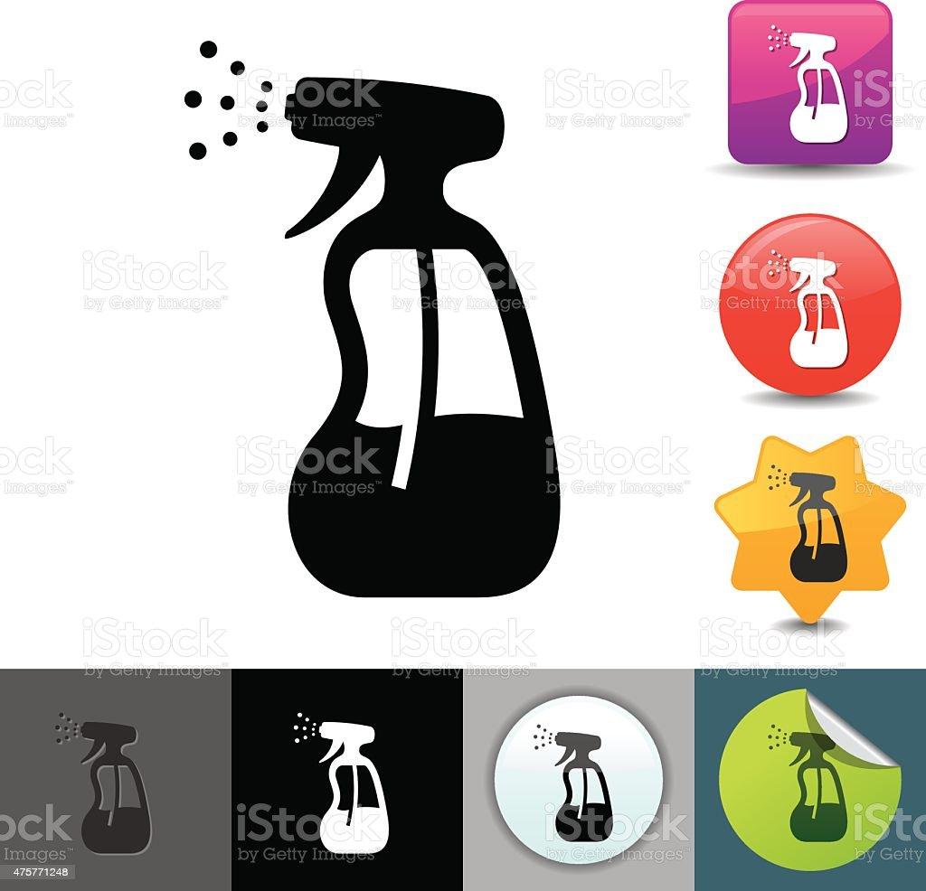 Spray bottle icon   solicosi series vector art illustration