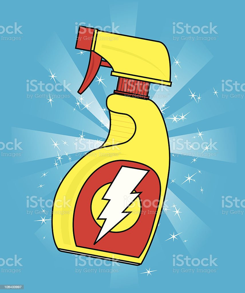 spray bottle vector art illustration