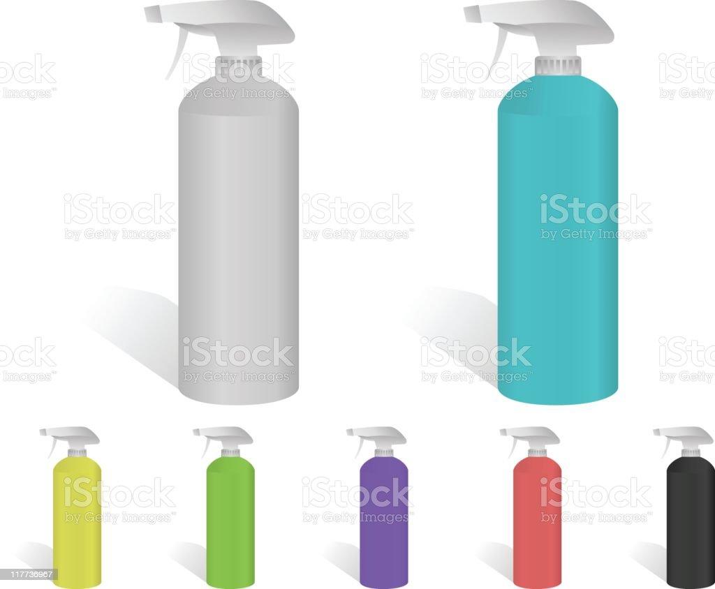 Spray Bottles vector art illustration