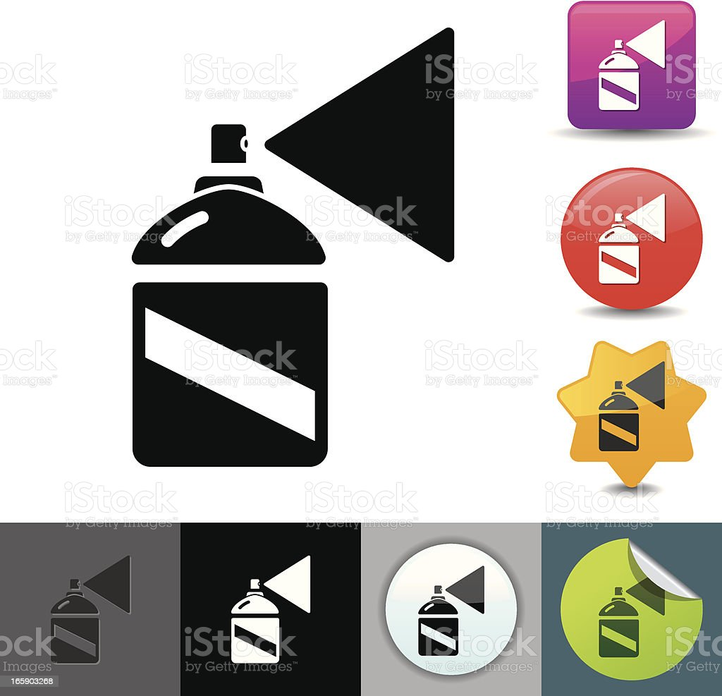 Spray can icon | solicosi series vector art illustration