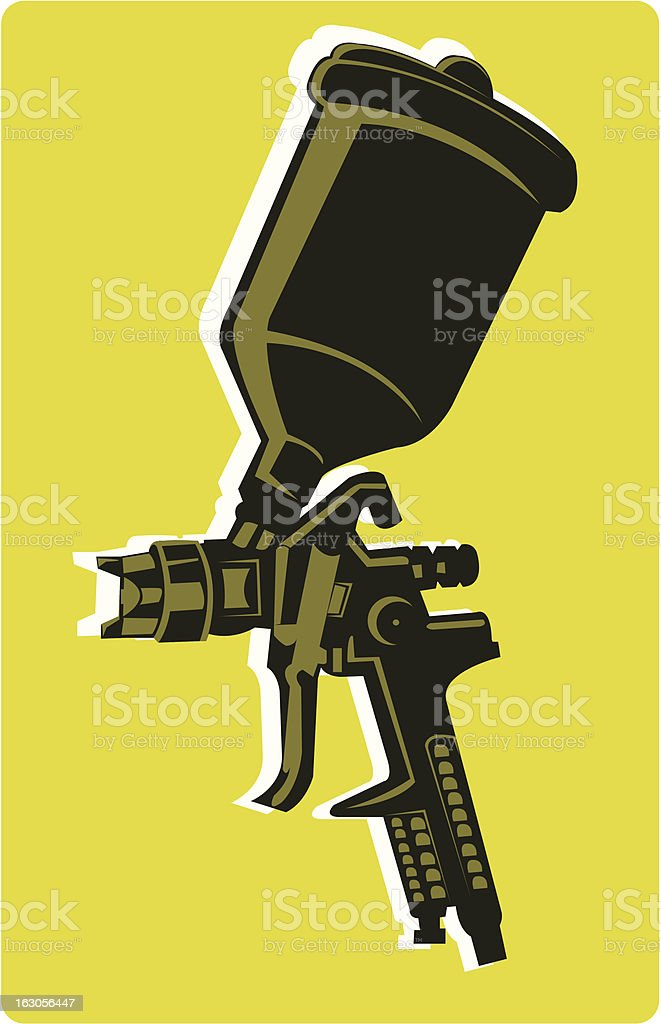 Spray gun royalty-free stock vector art