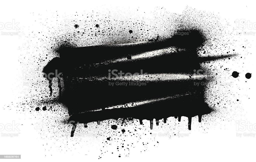 Spray Paint Banner vector art illustration