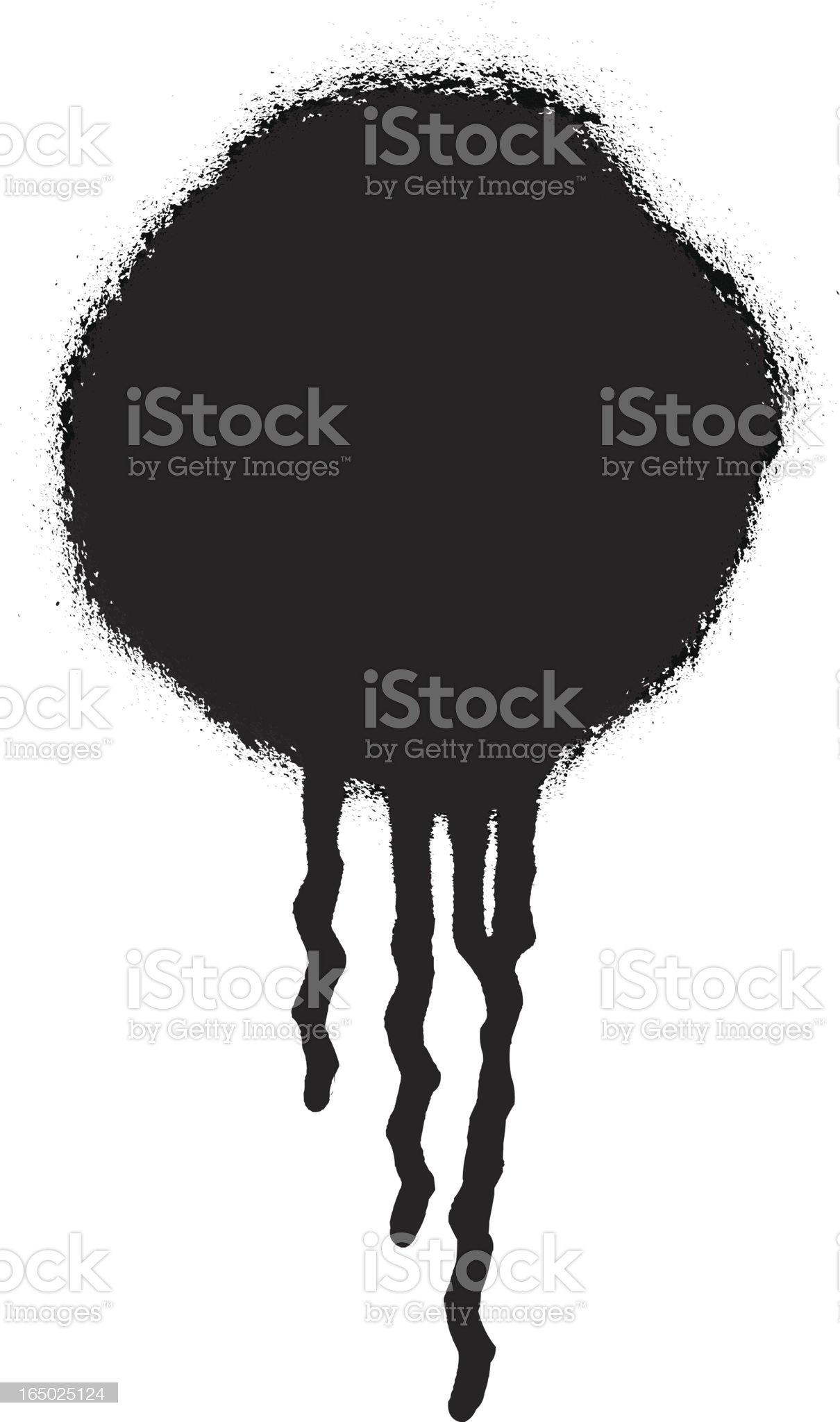 Spray Paint Drip_2 royalty-free stock vector art