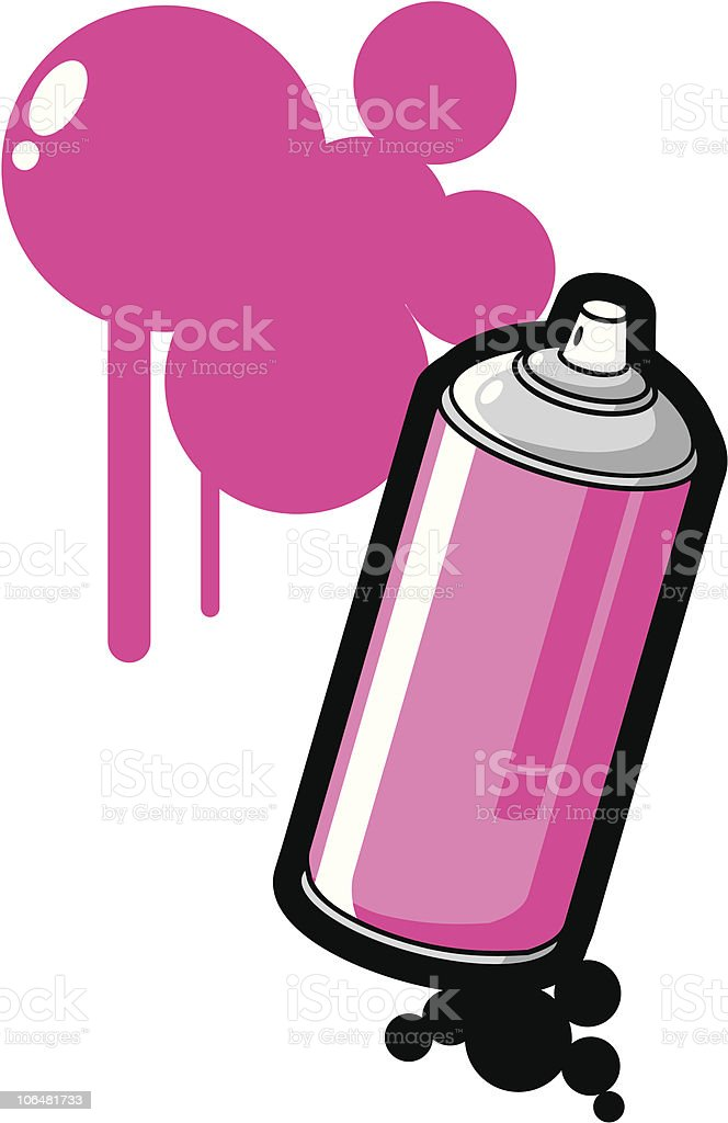 Spray Paint Y'all! royalty-free stock vector art