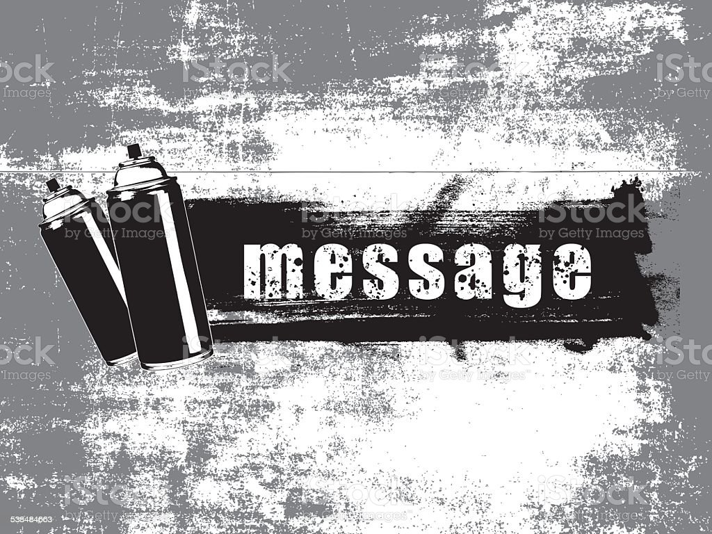 spray with horizontal grunge banner vector art illustration