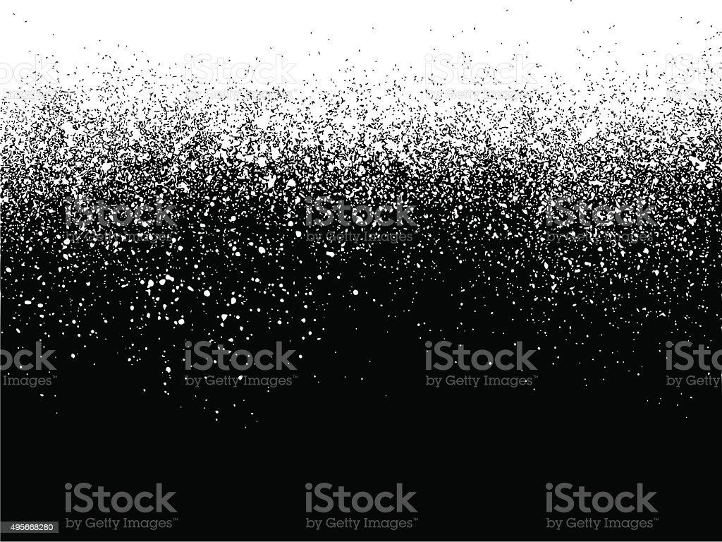 sprayed paint gradient detail in white over black vector art illustration