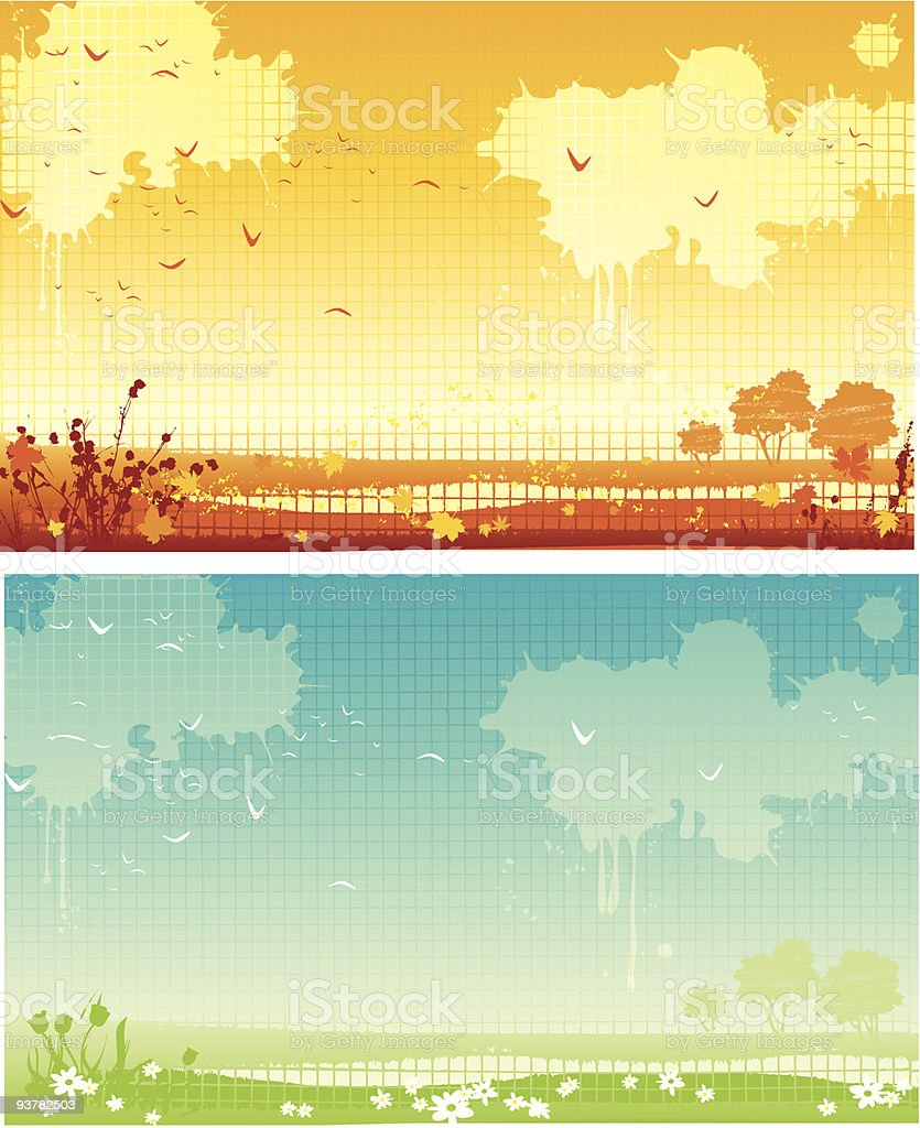 spring and autumn royalty-free stock vector art
