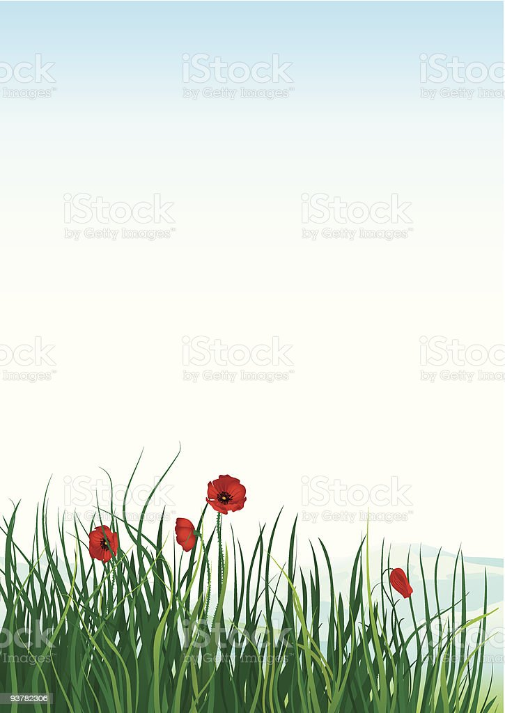 Spring at mountains royalty-free stock vector art