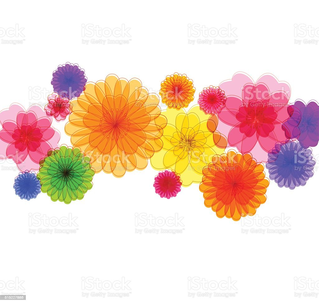 Spring background for the design of Colorful flowers Vector illustration vector art illustration