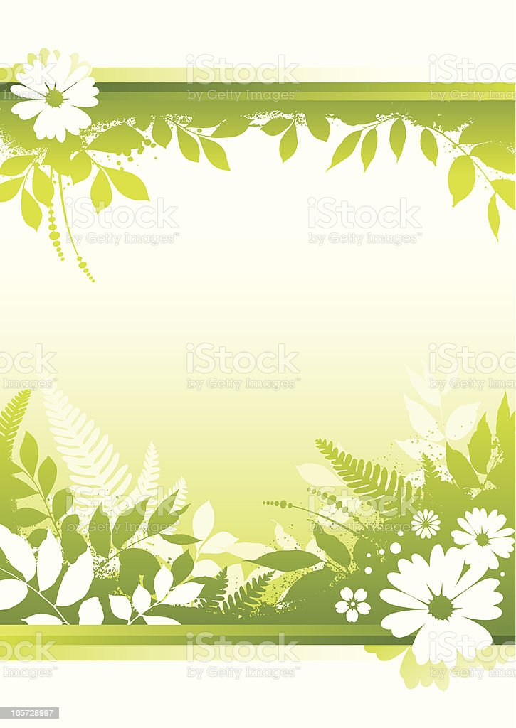 Spring background green leafs royalty-free stock vector art