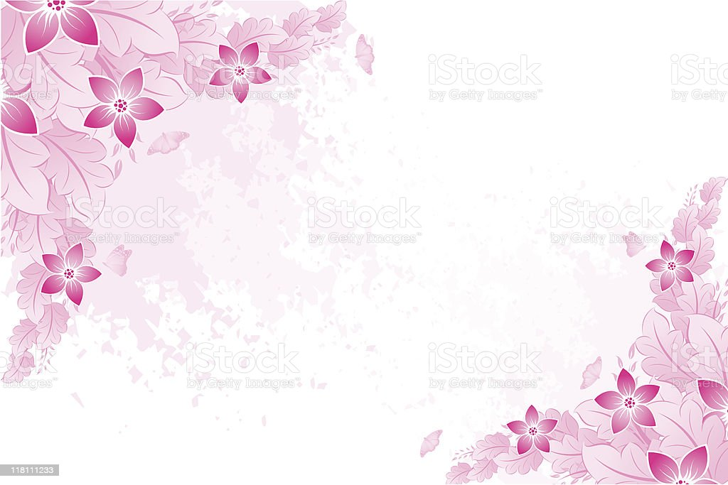 Spring background in pink royalty-free stock vector art