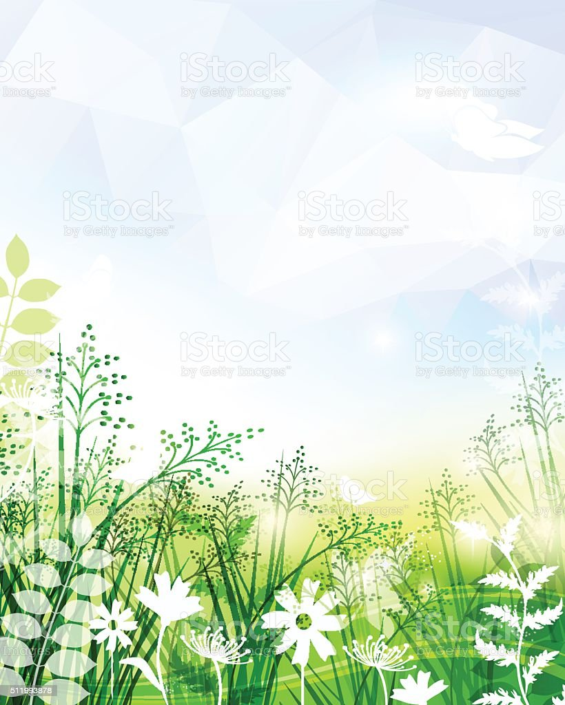 Spring Background vector art illustration