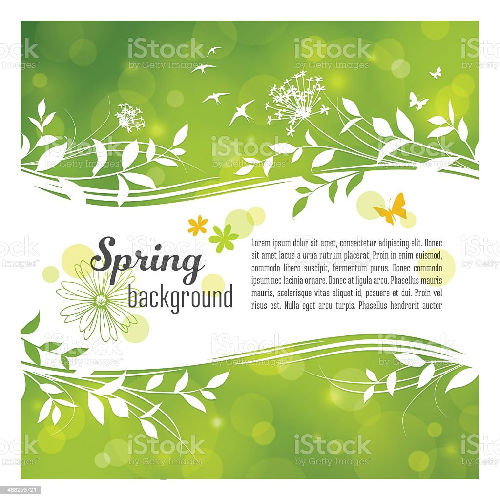 Spring Background with Copyspace vector art illustration