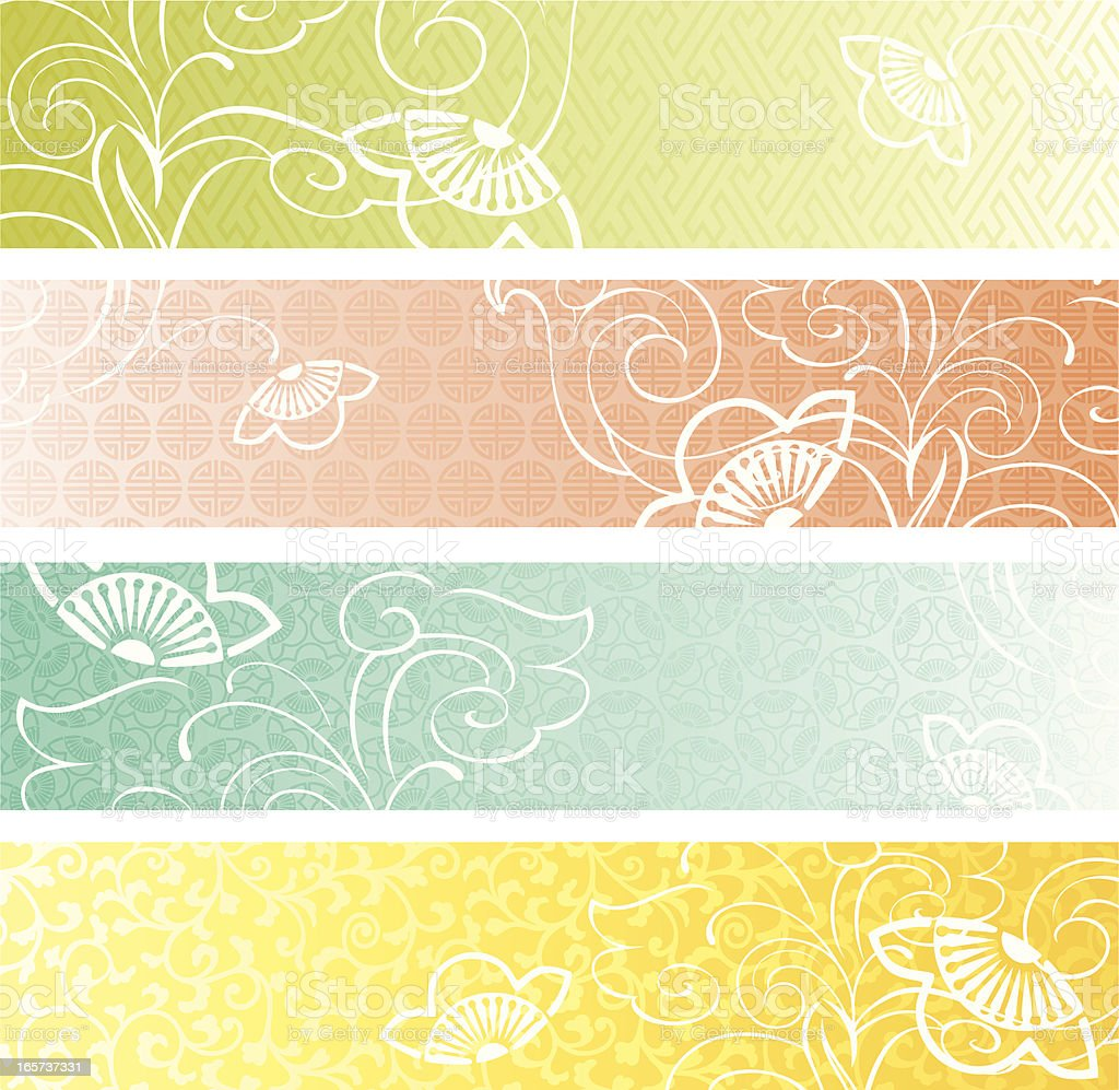 Spring Banner Collection royalty-free stock vector art