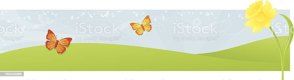 Spring Banner - incl. jpeg royalty-free stock vector art