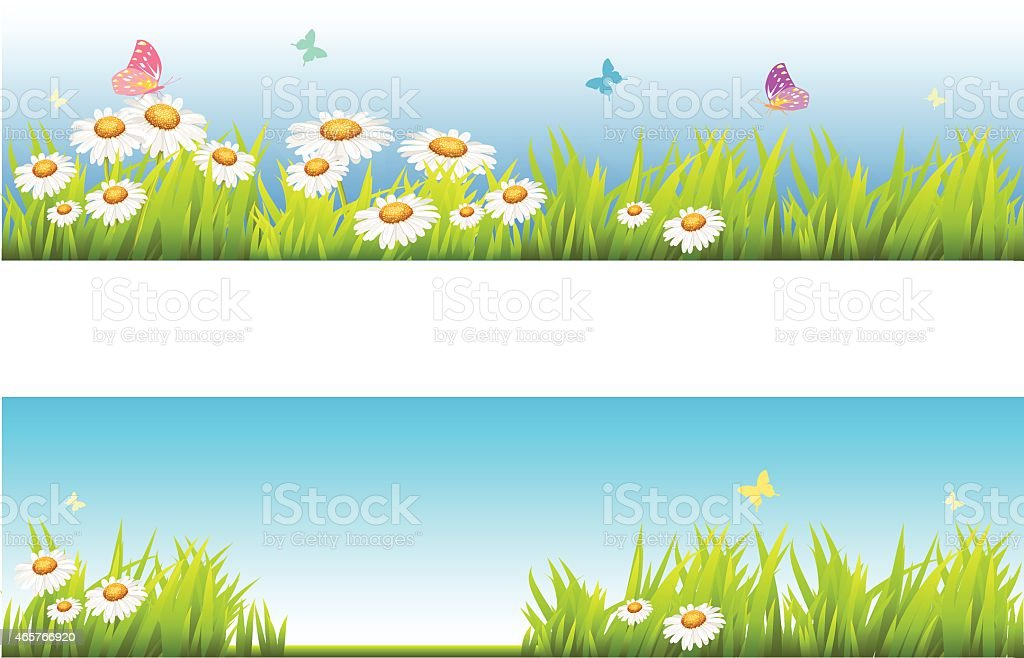 Spring banners vector art illustration