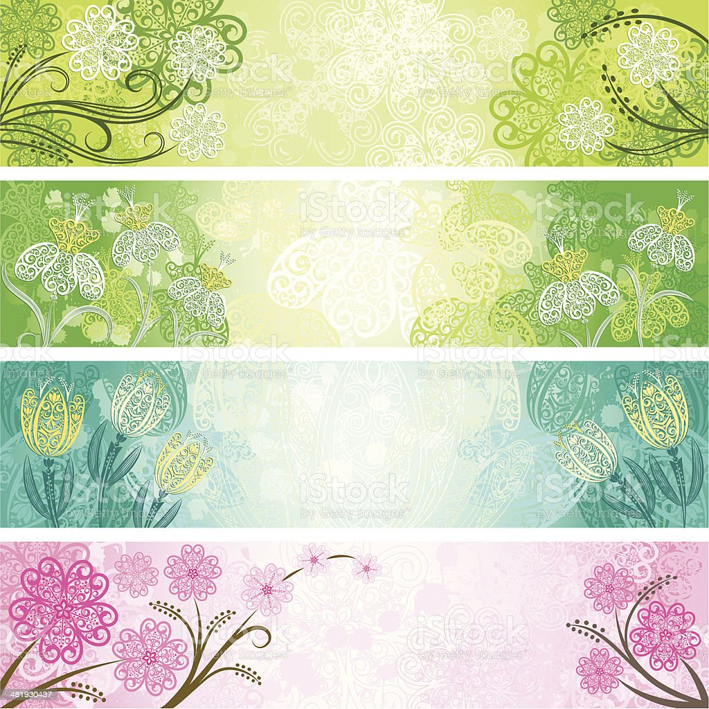 Spring Banners royalty-free stock vector art