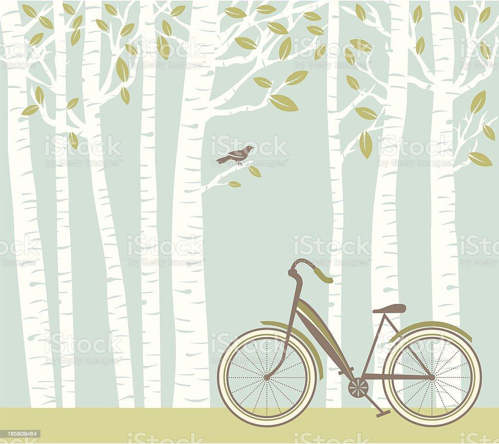 Spring Bike vector art illustration