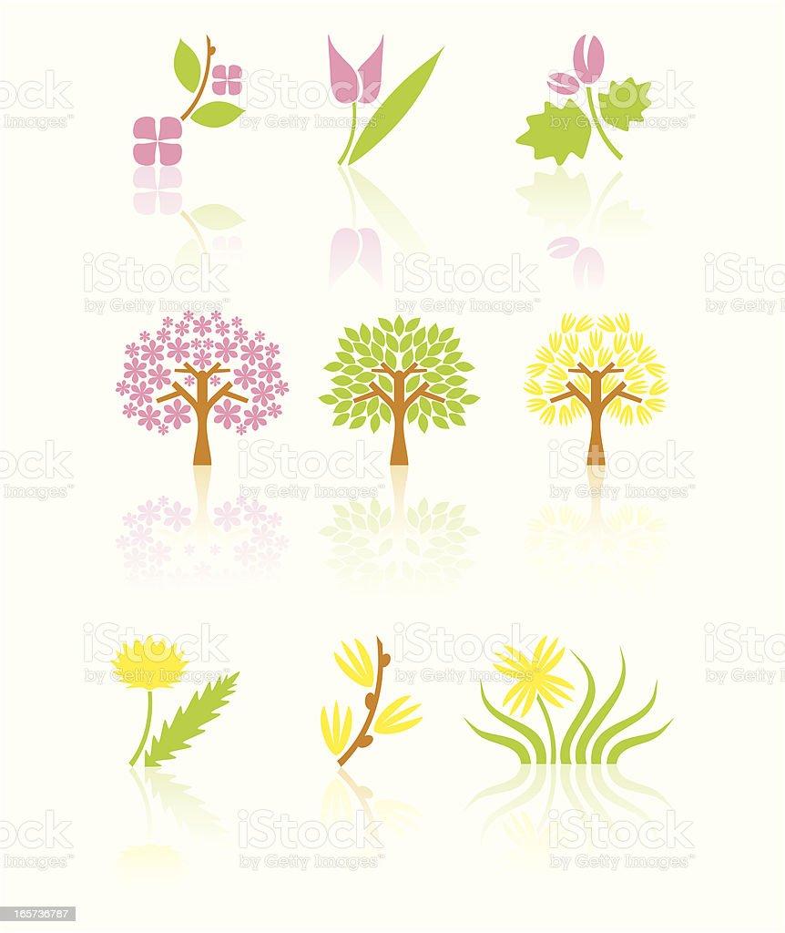 Spring blossom set royalty-free stock vector art
