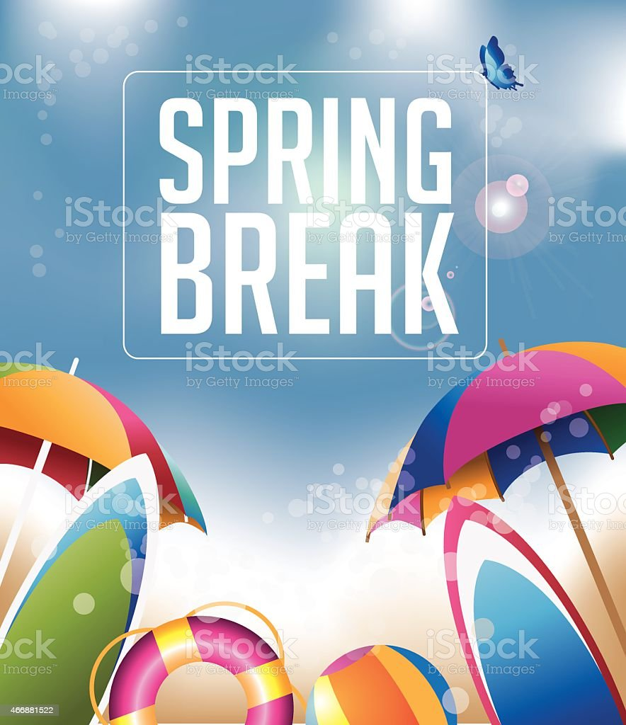 Spring Break background with copy space EPS 10 vector vector art illustration