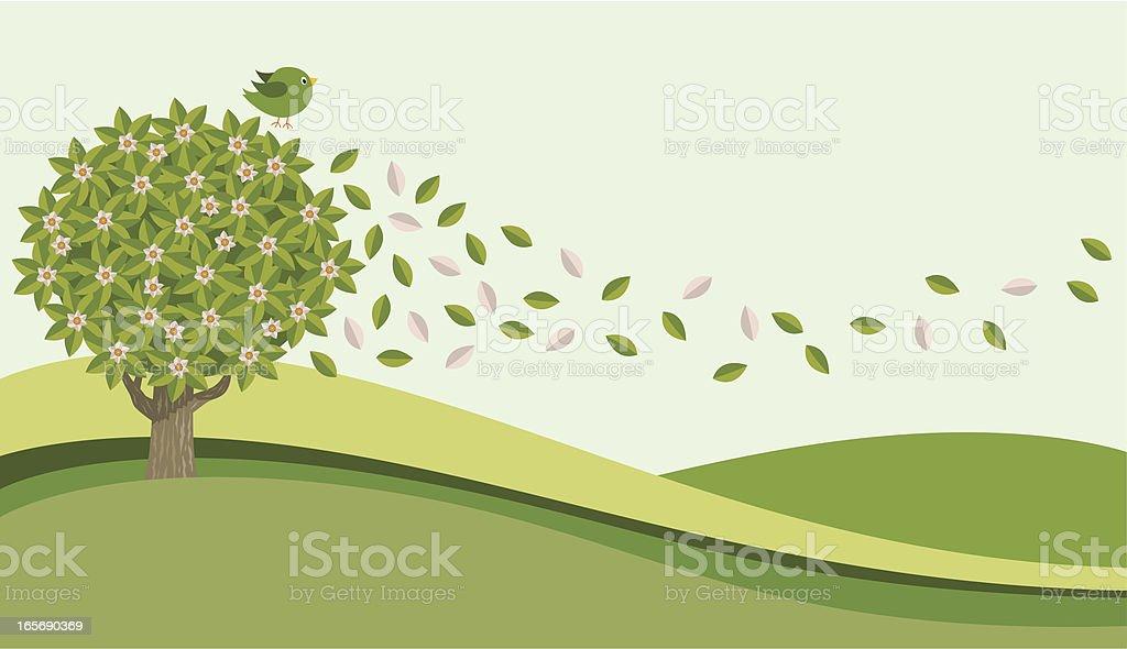 Spring Breeze royalty-free stock vector art