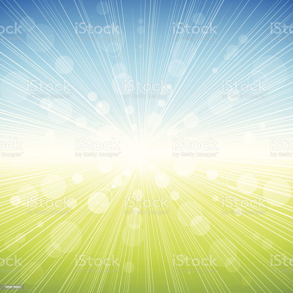 Spring Burst Background vector art illustration