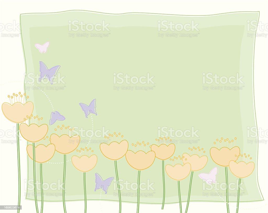 Spring Buttercups vector art illustration
