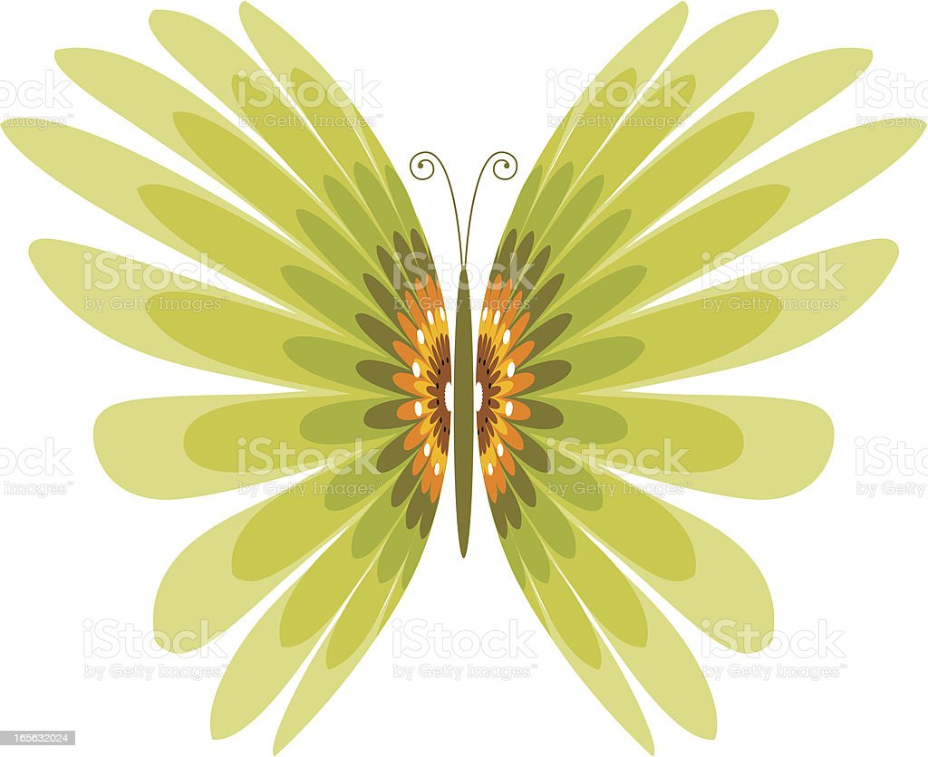 Spring butterfly royalty-free stock vector art