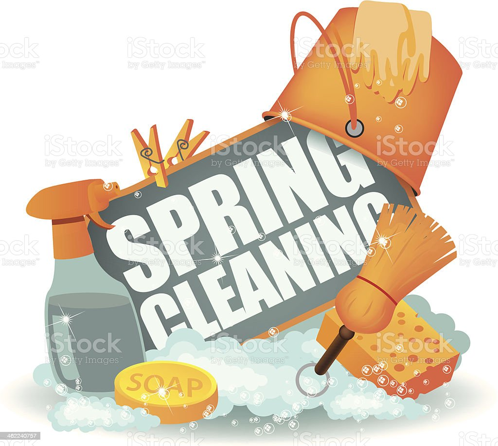 Spring Cleaning Icon. vector art illustration
