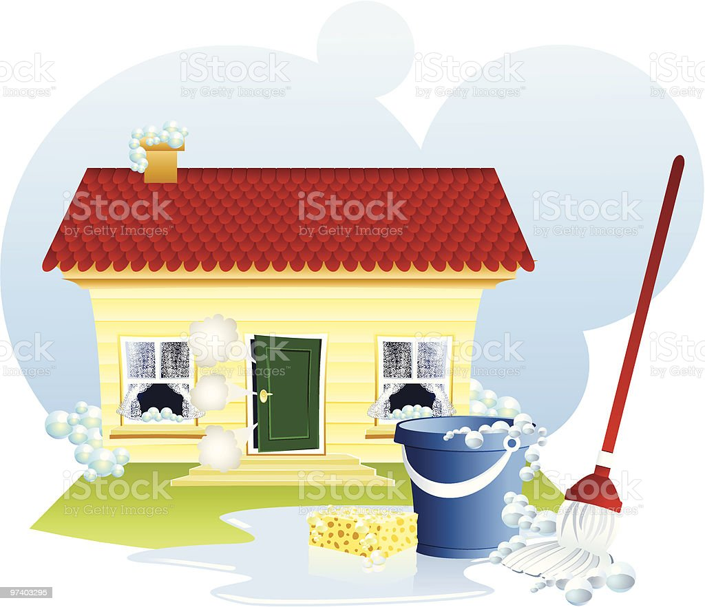 Spring cleaning royalty-free stock vector art