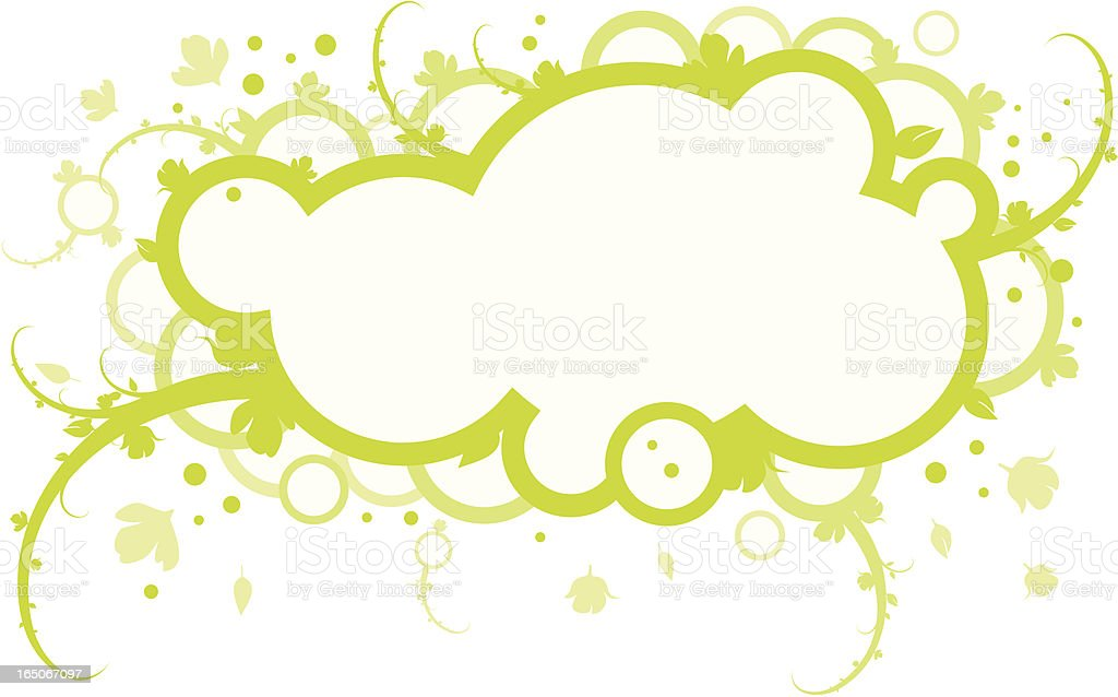 Spring cloud. royalty-free stock vector art