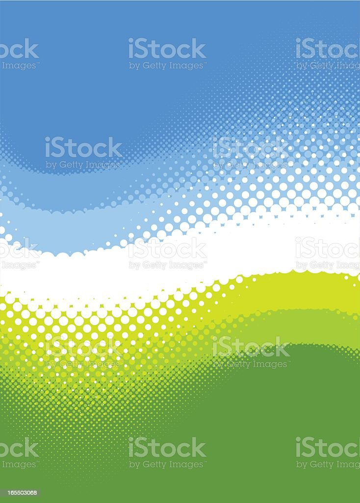 Spring colored background in blue and green royalty-free stock vector art