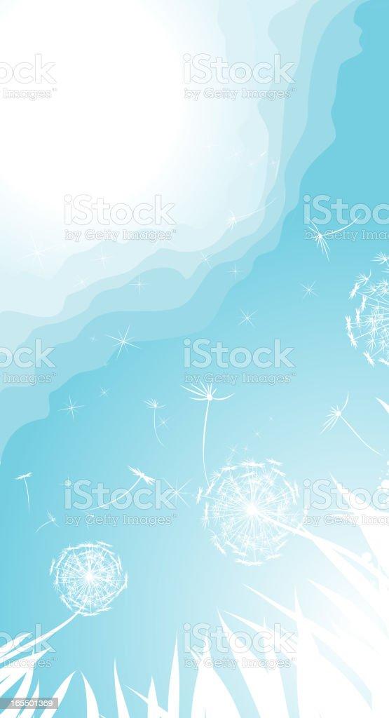 Spring Dandelion royalty-free stock vector art