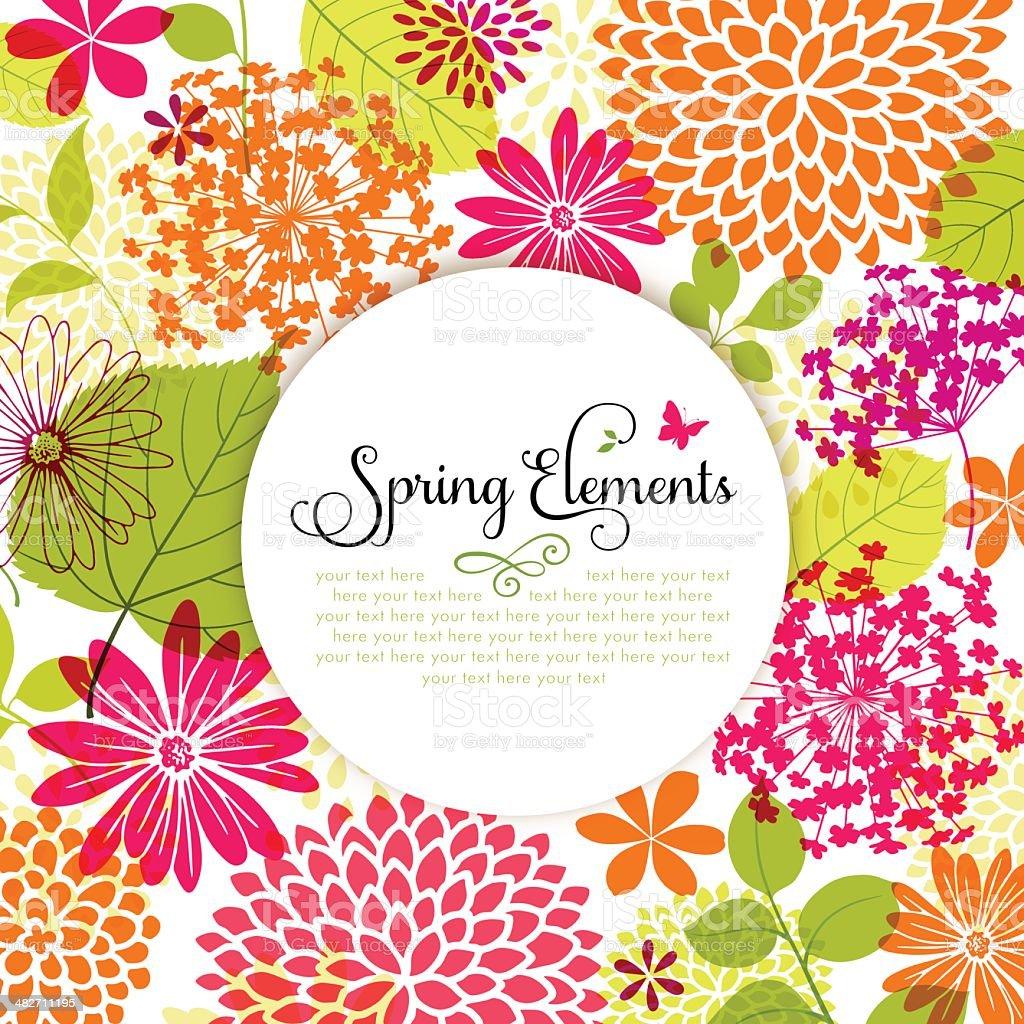 Spring Design with Copyspace vector art illustration