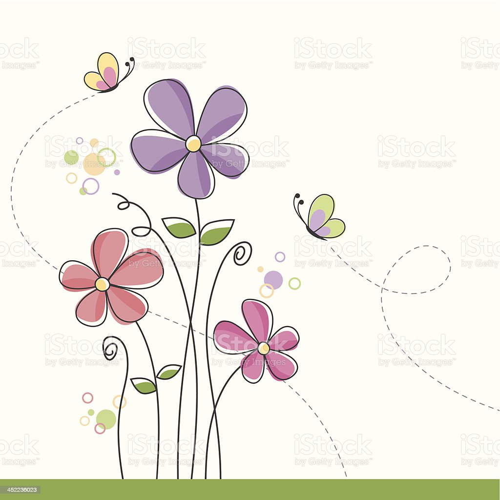 Spring floral background royalty-free stock vector art