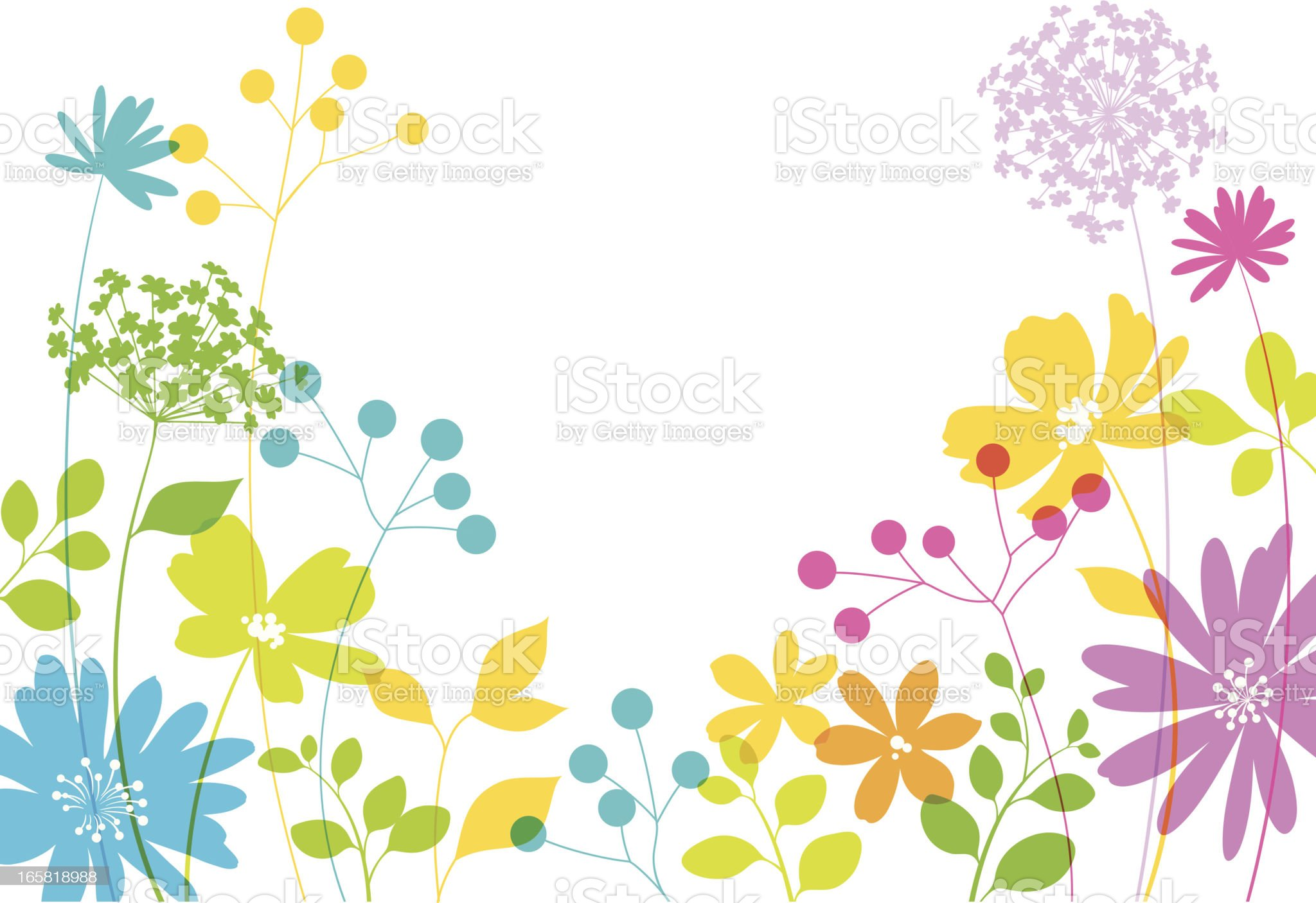 Spring Floral Design royalty-free stock vector art