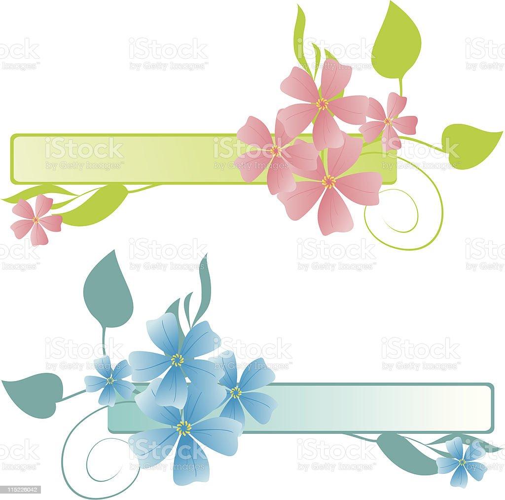 spring floral frames vector art illustration
