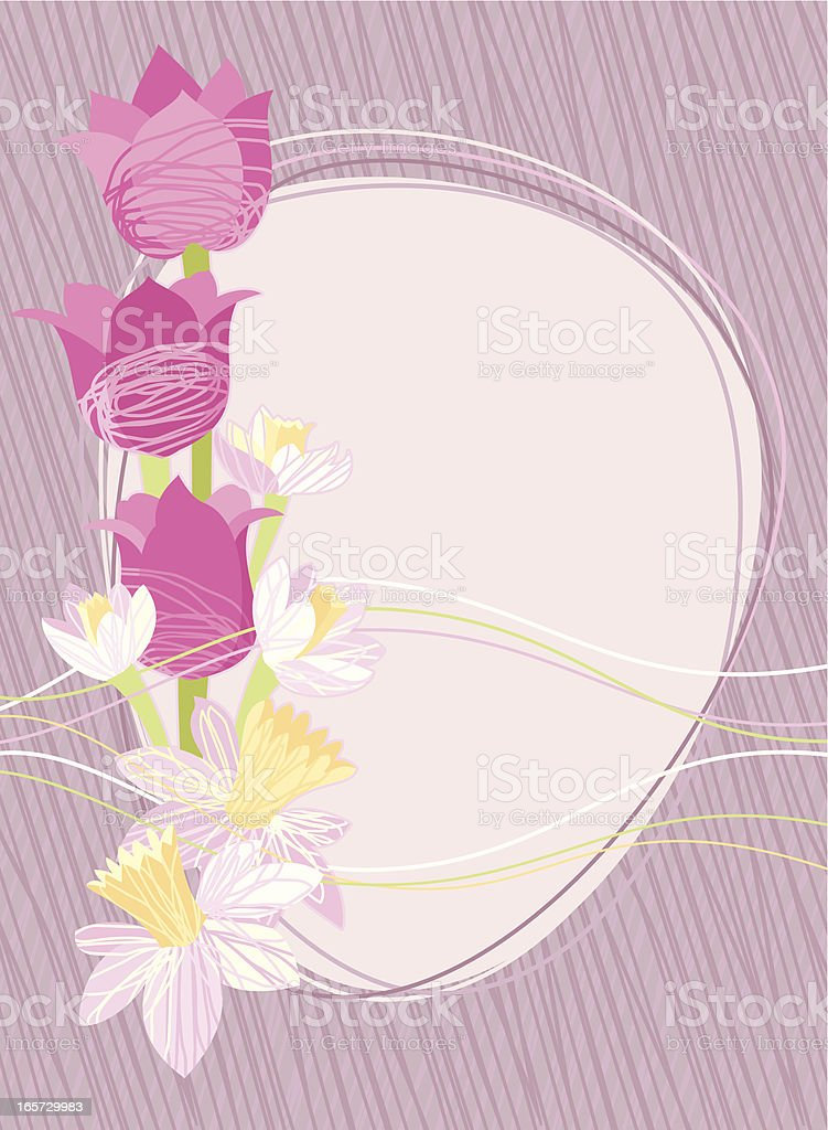 Spring Floral Invitation royalty-free stock vector art