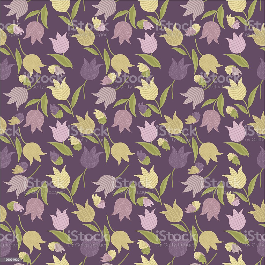 Spring Floral Pattern royalty-free stock vector art