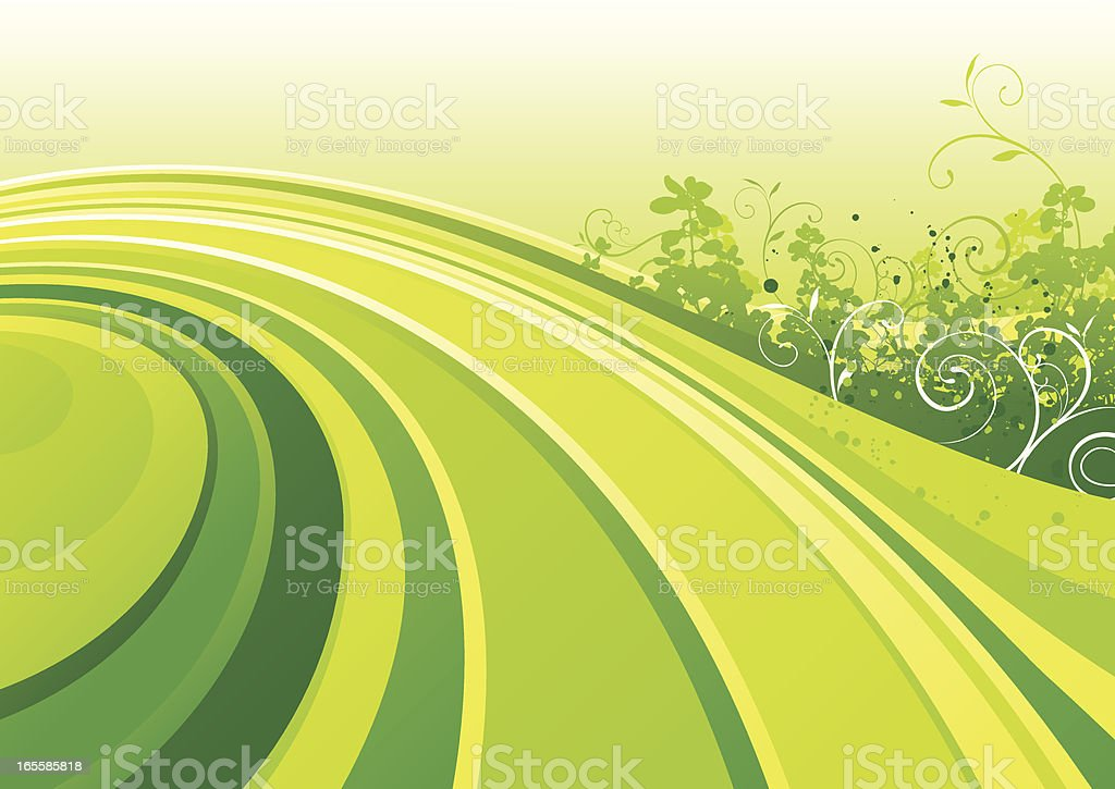 Spring flow royalty-free stock vector art