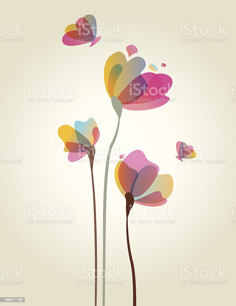 Spring Flower Artwork vector art illustration