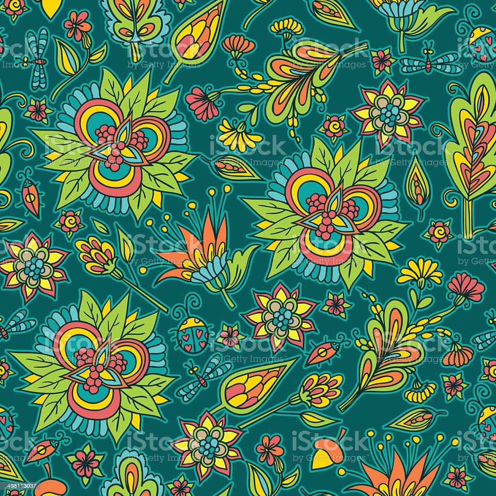 Spring flower background vector art illustration